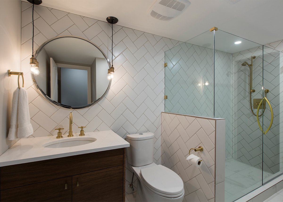 Kelowna Electrician: Epic Electric - Creative Touch Interiors project bathroom