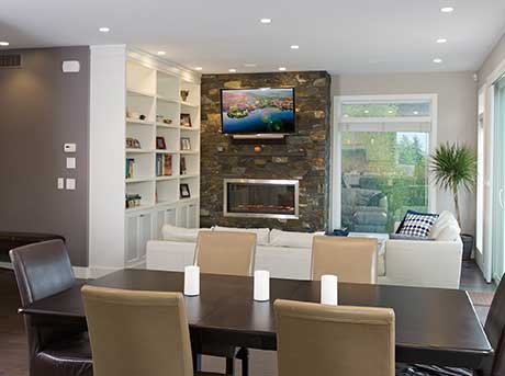 Kelowna electrician - Epic Electric Renovation Project: Highgate Court dining room