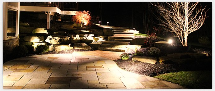 Exterior lighting ideas tips kelowna epic electricians for Electric walkway lights