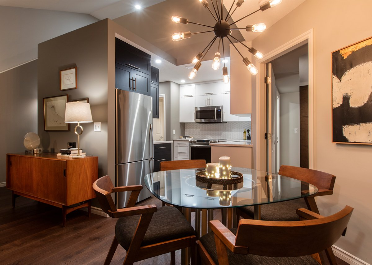 Kelowna Electrician: Epic Electric - Creative Touch Interiors project dining area