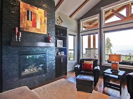 Kelowna electrician - Epic Electric Renovation Project: Montenegro Living room electric fireplace