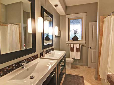 Kelowna electrician - Epic Electric Renovation Project: Montenegro main Bathroom